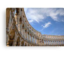 Colosseum in pula, Croatia Canvas Print
