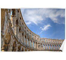 Colosseum in pula, Croatia Poster