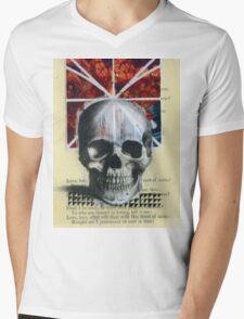 SKULL BLAST Mens V-Neck T-Shirt