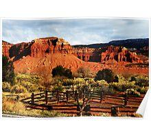 Red cliffs of Utah Poster