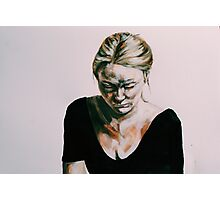 Acrylic portrait painting Photographic Print