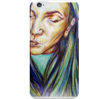 Leah coloured pencil illustration iPhone Case/Skin