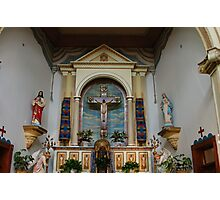 Alter area of Ysleta Mission Church Photographic Print
