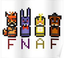 Five Nights at Freddy's Character Pixels Poster