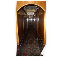 Queen Mary...Starboard  to Port Hallway... Poster
