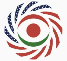 Niger American Multinational Patriot Flag Series One Piece - Long Sleeve