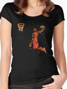 Basketball Dunk Women's Fitted Scoop T-Shirt
