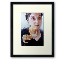 self portrait (ADD series)Why didn't anybody tell me before about the smudged lipstick Framed Print