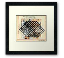 MATRIX PATTERN Framed Print