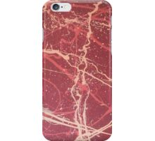Bright red abstract design iPhone Case/Skin