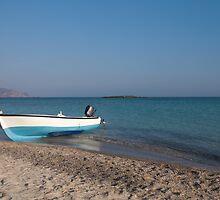 Boat at Elafonisi, Crete by Basiliss