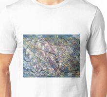 A blue Jackson Pollock-inspired painting Unisex T-Shirt