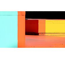 blocks of colour Photographic Print