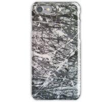 Grey Jackson Pollock-inspired painting iPhone Case/Skin