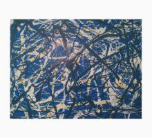 Blue Jackson Pollock-inspired painting Kids Tee