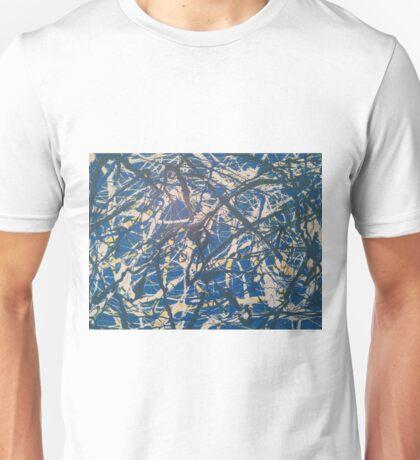 Blue Jackson Pollock-inspired painting Unisex T-Shirt