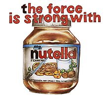 The force is strong with nutella Photographic Print