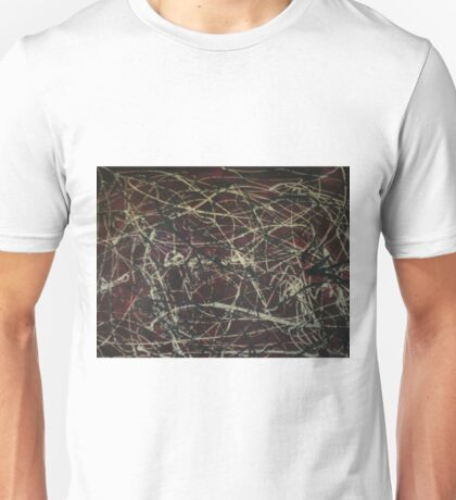 A red Jackson Pollock-inspired painting Unisex T-Shirt