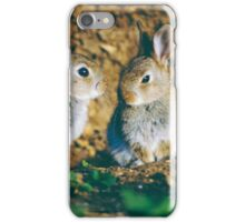 Baby rabbits  iPhone Case/Skin