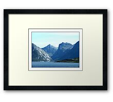 """The Giants Sleeping"" - Bodö, Norway Framed Print"