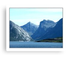 """The Giants Sleeping"" - Bodö, Norway Canvas Print"