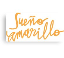 Nairo Quintana : Sueno Amarillo / Yellow Dream in Yellow Lettering Canvas Print