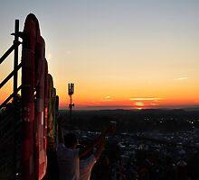 Glastonbury Sunset by Steve Briscoe