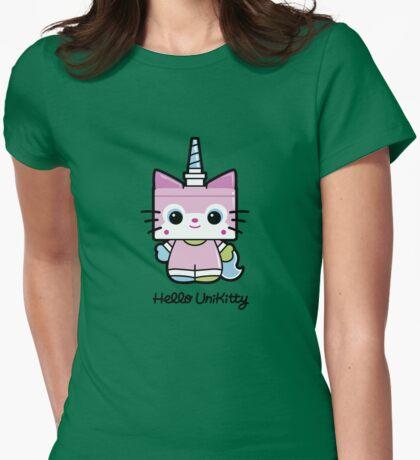 Hello Unikitty Womens Fitted T-Shirt