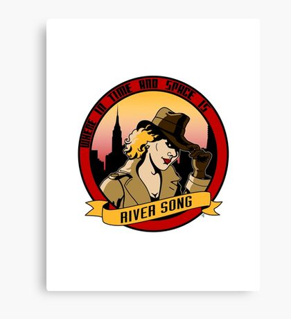 Where In Time and Space Is River Song? Canvas Print