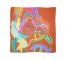 Orang utan mom and baby Scarf