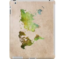 Green World Map ecology iPad Case/Skin