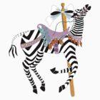 Carousel Zebra by magicalview