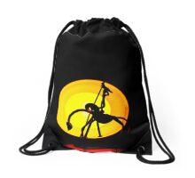 Don Quixote Rides At Dawn Drawstring Bag