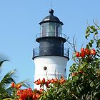 Key West Lighthouse From Ernest  Hemmingway's Balcony by BillH