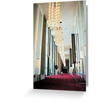 Grand Foyer - John F. Kennedy Center Greeting Card