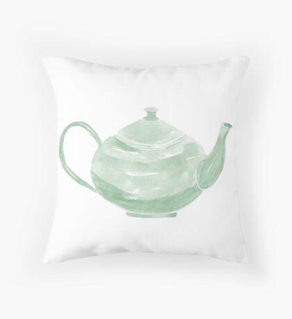 Teapot - No Text - Custom Throw Pillow