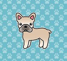 Cream French Bulldog Dog Cartoon by destei