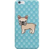 Cream French Bulldog Dog Cartoon iPhone Case/Skin