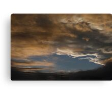 sky over hope valley Canvas Print