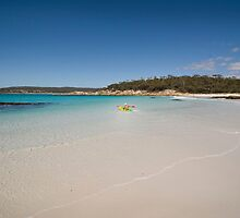 Bay of Fires Kayaker by Mike Calder