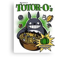 Totoro's Cereal Canvas Print