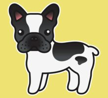Black Piebald French Bulldog Dog Cartoon Kids Clothes