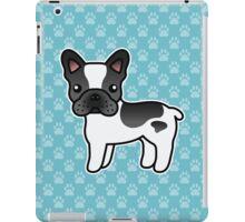 Black Piebald French Bulldog Dog Cartoon iPad Case/Skin