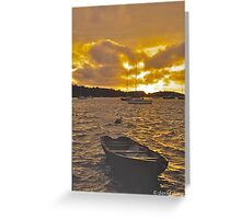 A Choppy Sunset Greeting Card