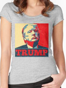 Vote TRUMP - Donald Trump in 2016 - Shepard Fairey Style - Make America Great Again Women's Fitted Scoop T-Shirt