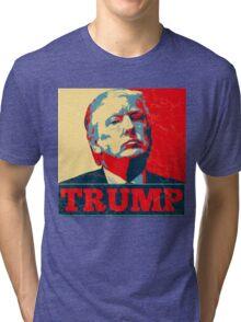 Vote TRUMP - Donald Trump in 2016 - Shepard Fairey Style - Make America Great Again Tri-blend T-Shirt