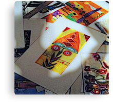 African Mask #1a Canvas Print