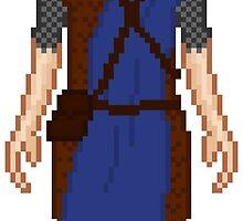 Skyrim 8-bit Windhelm Guard by sansasnark