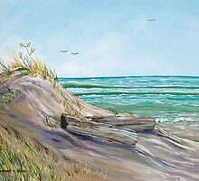 Driftwood on the Dune by Sharole Ewing