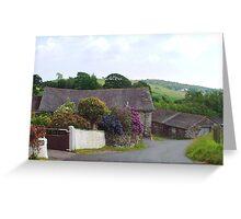 Barn at Bandrake Farm. Cumbria, England. Greeting Card